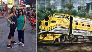 The Girl On The Train Star Parineeti Chopra's Mother Dedicates Painting to Celebrate Daughter's Netflix Film