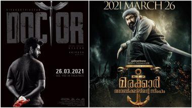 Doctor To Release On March 26! Sivakarthikeyan's Film To Clash With Mohanlal's Marakkar Arabikadalinte Simham In Theatres