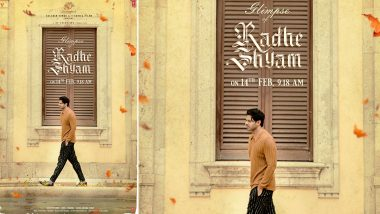 #14FebWithRS: Radhe Shyam Makers Release Prabhas' Stylish Look Ahead Of The Film's Teaser Launch On February 14!