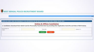WBPRB SI Interview Admit Card 2019 Released by West Bengal Police Recruitment Board; Candidates Can download Hall Ticket From Official Website - wbpolice.gov.in