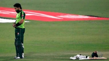 Mohammad Rizwan Offers Prayers During Drinks Break in Pakistan vs South Africa 2nd T20I at Gaddafi Stadium in Lahore (Watch Video)