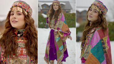 Shehnaaz Gill Decks Up in a Kashmiri Avatar As She Enjoys a Day in Snow (View Pics)