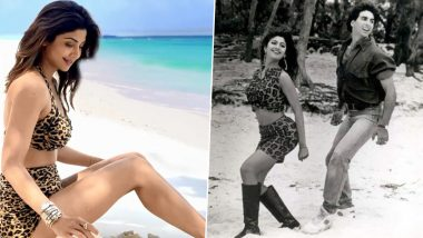 Shilpa Shetty Enjoying The Beach in Leopard-Print Bikini is Giving Us 'Churake Dil Mera' Vibes (View Pics)