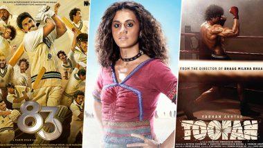 Taapsee Pannu's Rashmi Rocket to Ranveer Singh's 83, Every Upcoming Bollywood Sports Movies Releasing in 2021!