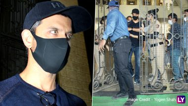 Hrithik Roshan Mobbed by Media As He Exits the Mumbai Crime Branch