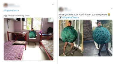Priyanka Chopra's Ball Green Dress Inspires Funny Memes and Jokes! From 'Boriya Bistar' to 'Sutli Bomb,' Hilarious Reactions Are Lit
