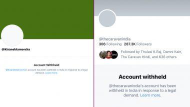 Twitter Accounts of Caravan India, Kisan Ekta Morcha, Prasar Bharati CEO Shashi Shekhar Vempati Withheld Amid Ongoing Farmers' Protest