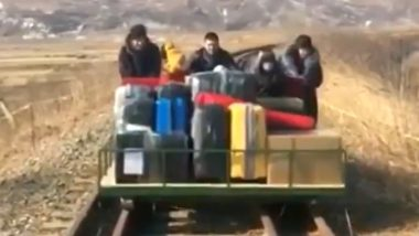 Russian Diplomats Use Hand-Car to Cross Border From North Korea, Watch Video