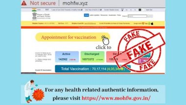 Fake Health Ministry Website mohfw.xyz Blocked, Govt Initiates Investigation; Warns People Against Such Fraudulent Websites