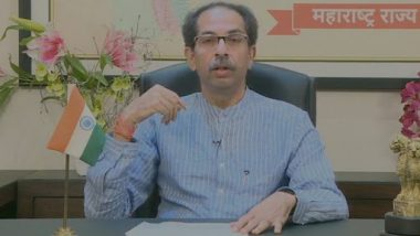 Uddhav Thackeray Warns of Complete Lockdown in Maharashtra if COVID-19 Situation Worsens, Urges People To Wear Masks and Maintain Social Distancing