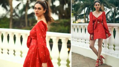 Yo or Hell No? Aditi Rao Hydari's Little Red Dress By Pink Porcupines