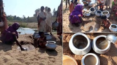 Chhattisgarh: People of Kundru Village Forced To Dig and Drink Drainage Water Due to Non-Availability of Hand Pump Water (See Pics)