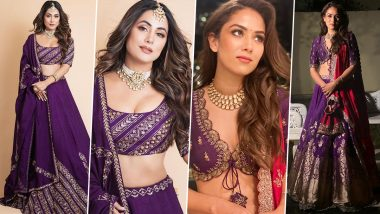 Fashion Faceoff: Hina Khan or Mira Rajput, Whose Royal Purple Lehenga Has Your Vote?