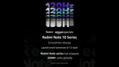 Redmi Note 10 Series Launching Tomorrow in India; Check Expected Prices, Features & Specifications