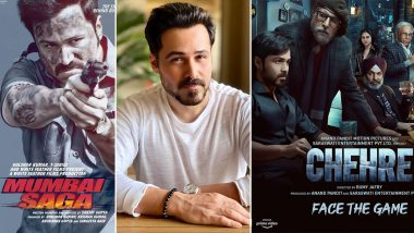 Mumbai Saga and Chehre: Emraan Hashmi Opens Up on His Two Major Projects, Says 'This Year Is Interesting and I Am Very Proud of These Releases'