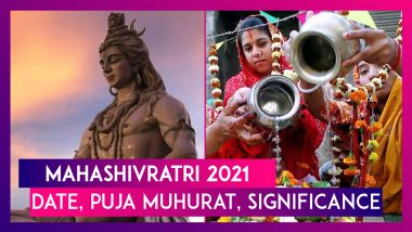 Mahashivratri 2021: Date, Puja Muhurat, Significance & How To Perform Puja At Home Due To Pandemic