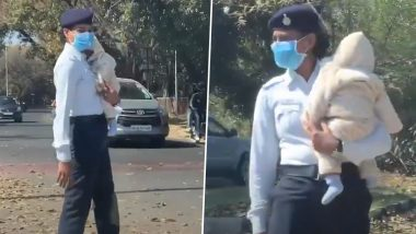 Chandigarh Traffic Police Constable Priyanka Faces Probe After Video Showing Her Performing Duty With Baby Goes Viral