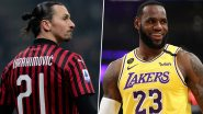 Zlatan Ibrahimovic Responds to LeBron James After LA Lakers Star Criticizes Footballer for 'Stay Out of Politics' Jibe