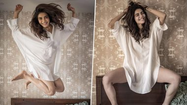 Karishma Tanna Goes Grunge for March, Shares Stunning Pictures in a White Shirt Dress