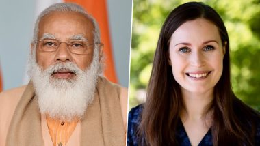 PM Narendra Modi to Hold Virtual Summit With Finland Counterpart Sanna Marin, to Exchange Views on Regional and Global Issues