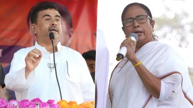West Bengal Assembly Elections 2021: Suvendu Adhikari Demands Rejection of Mamata Banerjee's Nomination Citing Pending Cases, Including One Against Her Namesake