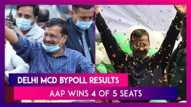 MCD Bypoll Results: AAP Wins 4 Of 5 Seats In Delhi Civic Bypolls, Congress Wins 1, Blow For BJP