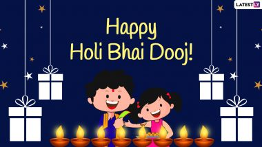 Holi Bhai Dooj 2021 Greetings, HD Images & Wallpapers: Brother-Sister Bond Quotes, WhatsApp Stickers, GIFs, Telegram Photos & Signal Messages to Celebrate the Sibling Love Festival After Holi