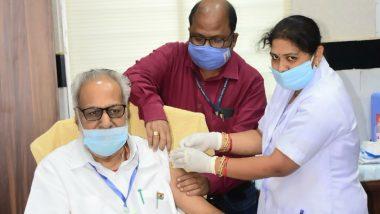 Odisha Governor Ganeshi Lal Gets First Shot of COVID-19 Vaccine