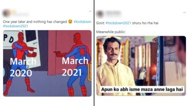 Lockdown 2021 Trends on Twitter as Scared Netizens Share Funny Memes and Jokes! While Students Cheer, Others Get Major March 2020 Déjà Vu