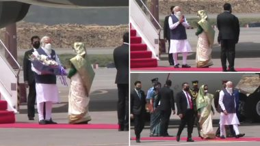 Bangladesh Independence Day 2021: PM Narendra Modi Arrives in Dhaka to Participate in Golden Jubilee Celebrations of Country's Independence