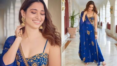 Yo or Hell No? Tamannaah's Blue Ethnic Dress By Ohaila Khan