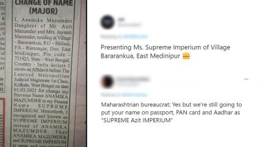West Bengal Woman Changes Her Name to Supreme Imperium; Netizens Puzzled, Share Hilarious Reactions on Twitter