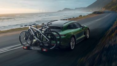 Porsche Launches $91,000 Taycan Cross Turismo EV & Two Matching Electric Bikes; Check Pictures Here