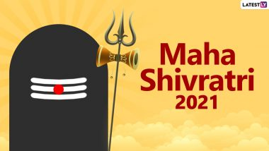 Happy Mahashivratri 2021 Wishes in Hindi: WhatsApp Stickers, Maha Shivratri Facebook Messages, Lord Shiva Telegram HD Images, Signal Greetings and GIFs to Celebrate the Great Night of Shiva