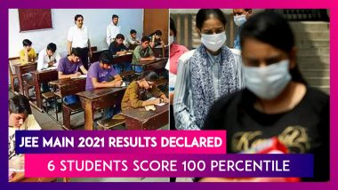 JEE Main 2021 February Results Declared: Six Boys Score 100 Percentile, 10 Girls Get 99 Percentile