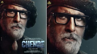 Chehre: Amitabh Bachchan Looks Flamboyant in New Poster, Trailer To Be Out on March 18! (View Pic)