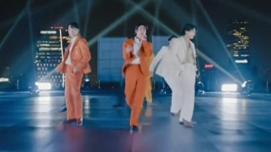 Grammy Awards 2021: BTS Performs Dynamite at the Grammys and Their Scintillating Performance Is Unmissable (Watch Video)
