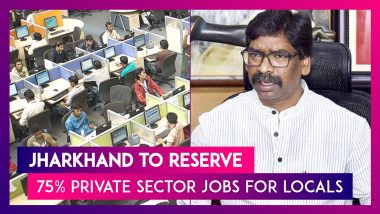 Jharkhand Latest State To Reserve 75% Private Sector Jobs For Locals, All You Need To Know About The Bill