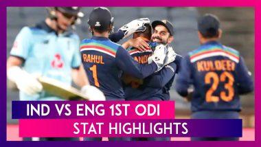 IND vs ENG 1st ODI Stat Highlights: Krunal Pandya, Prasidh Krishna Shine On Debut