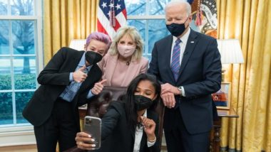 Joe Biden, Football Star Megan Rapinoe Team Up in Fight For Equal Pay for Women and Men