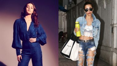 From Alia Bhatt's Bell Bottom to Malaika Arora's Ripped Jeans – 5 Celebrity-Approved Denim Styles To Flaunt This Summer Season!