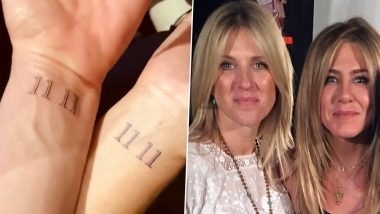 Friends Star Jennifer Aniston's Wrist Tattoo is Exactly the Same One That Her Best Friend Has