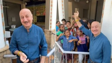 Anupam Kher's 'Pawri Ho Rahi Hai' Video Sees the Actor Spending His 66th Birthday With Kids (Watch Video)