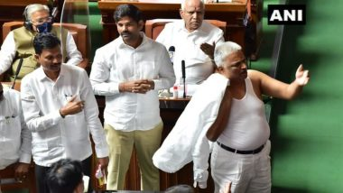 Karnataka Congress MLA BK Sangamesh Suspended for One Week for Disrespectful' Behavior in the Assembly by Taking Off His Shirt
