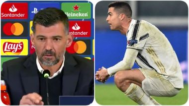 Porto Boss Sergio Conceicao's Press Conference Lasts Just 50 Seconds Following His Team's Historic Win Against Cristiano Ronaldo's Juventus in UCL 2021 (Watch Video)