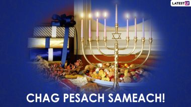Happy Passover 2021 Greetings & Facebook Messages: WhatsApp Stickers, Chag Pesach Sameach HD Images, Wallpapers, GIFs and SMS To Wish Family and Friends on Pesach