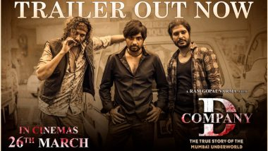 D Company Trailer Out! Ram Gopal Varma's Underworld Thriller To Release in Theatres on March 26 (Watch Video)