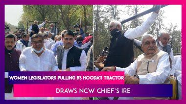 Women Legislators Pulling Bhupinder Singh Hooda's Tractor Draws NCW Chief Rekha Sharma's Ire