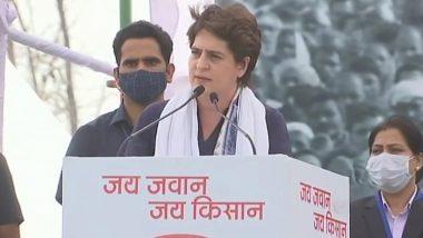 Priyanka Gandhi Addresses Farmers at Kisan Mahapanchayat in Meerut, Says 'Do Not Lose Hope'