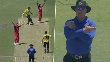 Bizarre! Umpire Reverses His Own Decision After Making Wrong Call During Marsh One-Day Cup; Leaves Stuart Clark, Brett Lee Amused (Watch Video)